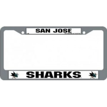 San Jose Sharks Chrome License Plate Frame
