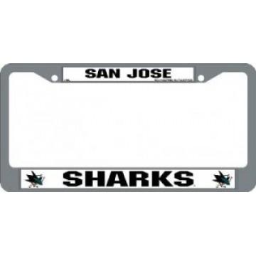 San Jose Sharks Chrome License Plate Frame