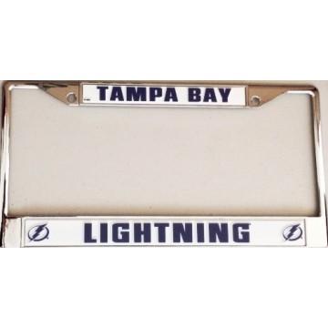 Tampa Bay Lightning Chrome License Plate Frame