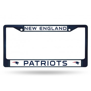 New England Patriots Anodized Blue License Plate Frame
