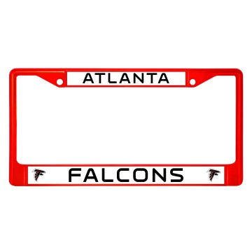 Atlanta Falcons Anodized Red License Plate Frame