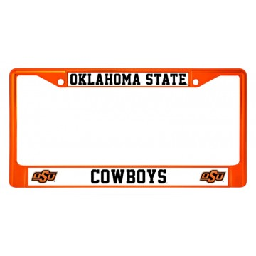 Oklahoma State Cowboys Anodized Orange License Plate Frame
