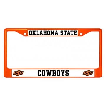 Oklahoma State Cowboys Anodized Orange License Plate Frame