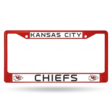 Kansas City Chiefs Anodized Red License Plate Frame