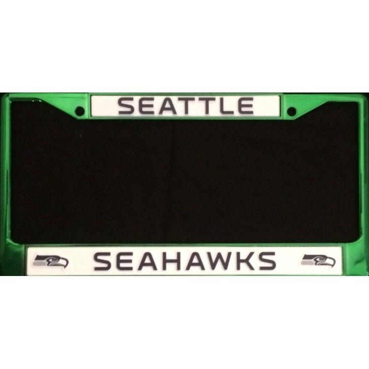 Seattle Seahawks Anodized Green License Plate Frame