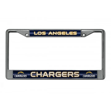 Los Angeles Chargers Glitter Chrome License Plate Frame