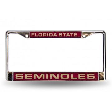 Florida State Seminoles Laser Chrome License Plate Frame