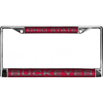 Ohio State Buckeyes Laser Chrome License Plate Frame