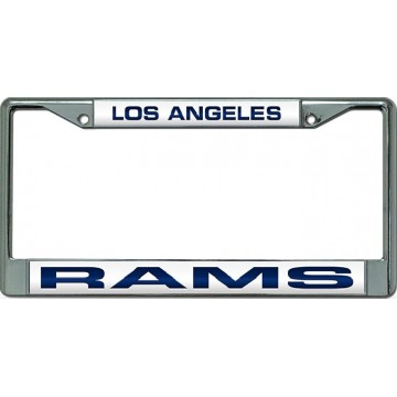 Los Angeles Rams Laser Chrome License Plate Frame
