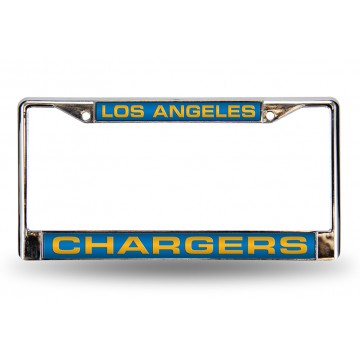 Los Angeles Chargers Laser Chrome License Plate Frame