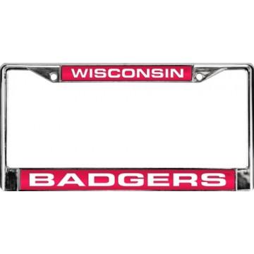 Wisconsin Badgers Laser Chrome License Plate Frame