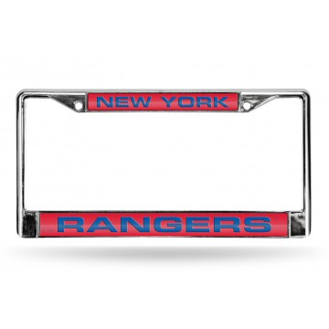 New York Rangers Laser Chrome License Plate Frame