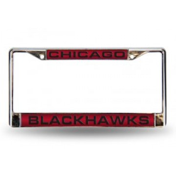 Chicago Blackhawks Laser Chrome License Plate Frame
