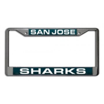 San Jose Sharks Laser Chrome License Plate Frame