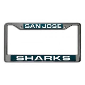 San Jose Sharks Laser Chrome License Plate Frame