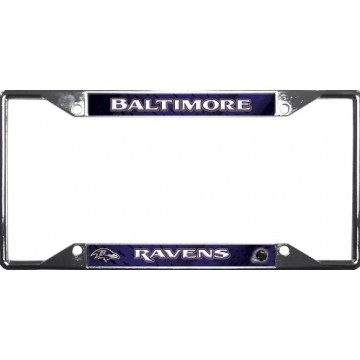 Baltimore Ravens EZ View Chrome License Plate Frame