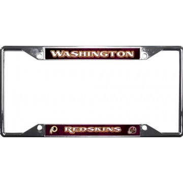 Washington Redskins EZ View Chrome License Plate Frame