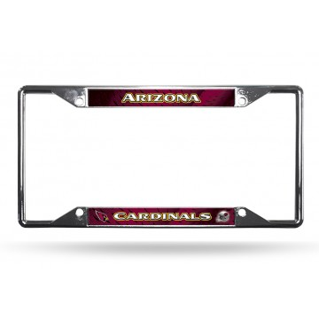 Arizona Cardinals EZ View Chrome License Plate Frame
