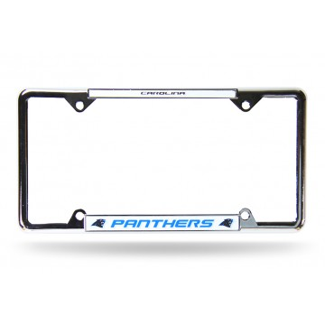 Carolina Panthers Thin Top Chrome License Plate Frame