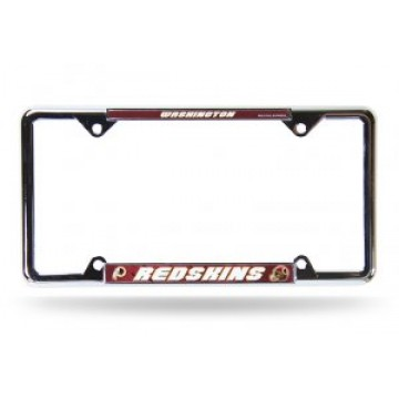 Washington Redskins Full Color Thin Top Chrome License Plate Frame