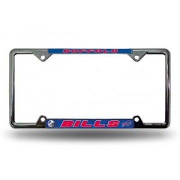 Buffalo Bills Full Color Thin Top Chrome License Plate Frame