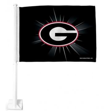 Georgia Bulldogs Black Car Flag