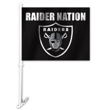 Oakland Raider Nation Car Flag