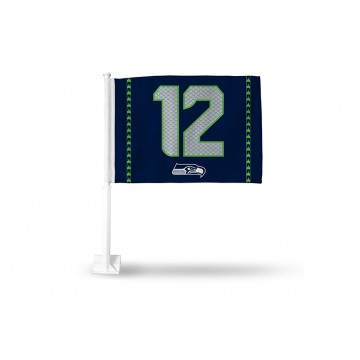 Seattle Seahawks Alt. 12 Man Car Flag