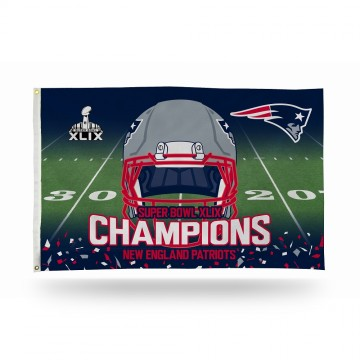 New England Patriots Super Bowl Champs Banner Flag