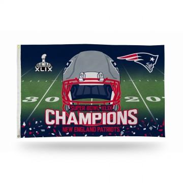 New England Patriots Super Bowl Champs Banner Flag