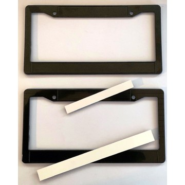 Black Double Panel Plastic License Plate Frame