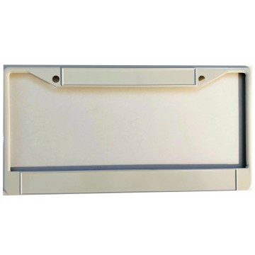 Zinc Alloy White Blank Double Panel License Plate Frame