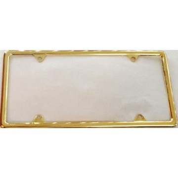 Zinc Alloy Gold Finish Metal License Plate Frame