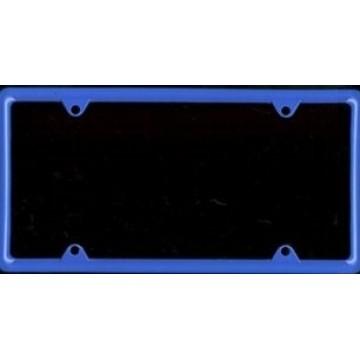 Zinc Alloy Blue Metal License Plate Frame