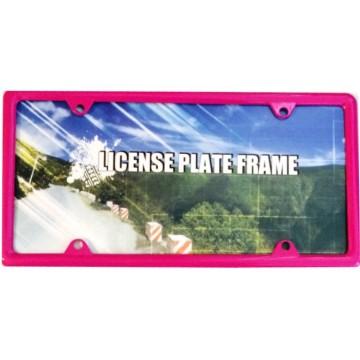 Zinc Alloy Hot Pink Metal License Plate Frame