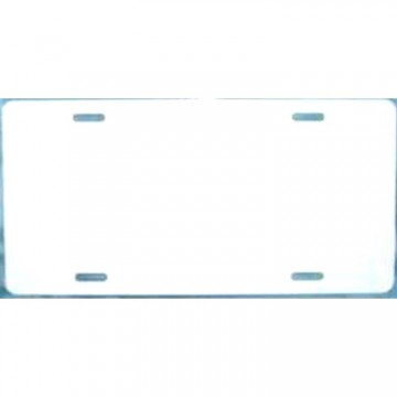 0.025 White Aluminum Blank License Plate