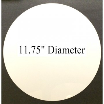 "White Dye Sublimation Aluminum 11.75"" round Blanks No Hole Pack of 10"