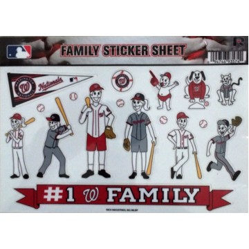 Washington Nationals Family Spirit Window Decals