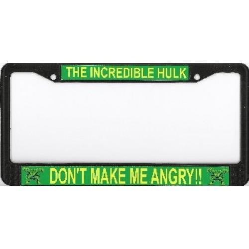 the incredible hulk photo license plate frame