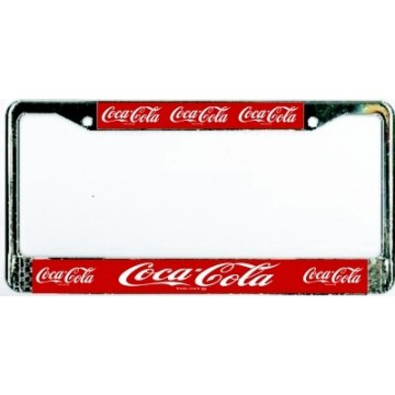 Coca-Cola Chrome License Plate Frame