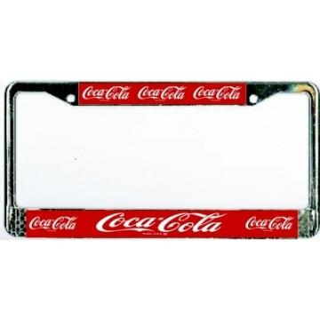 Coca-Cola Chrome License Plate Frame