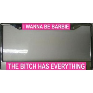 Barbie Has Everything Chrome License Plate Frame