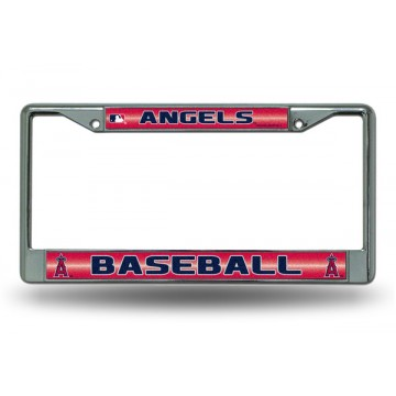 Anaheim Angels Glitter Chrome License Plate Frame