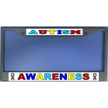 Autism Awareness Photo License Plate Frame