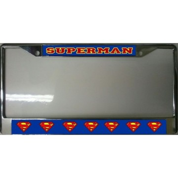 Superman Chrome License Plate Frame