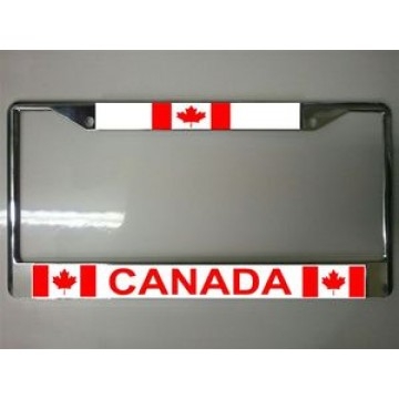Canada Chrome License Plate Frame