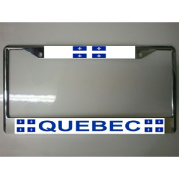 Quebec Canada Chrome License Plate Frame