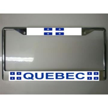 Quebec Canada Chrome License Plate Frame