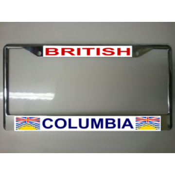 British Columbia Chrome License Plate Frame