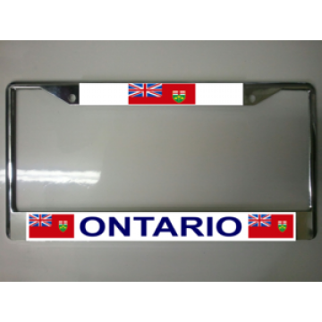 Ontario Canada Chrome License Plate Frame